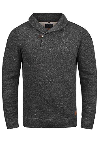 Blend Janosch Herren Sweatshirt Pullover Pulli Mit Schalkragen, Größe:L, Farbe:Black (70155)