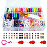 Friendship Bracelet Making Beads Kit, Letter Beads, 22 Multi-Color Embroidery Floss 'A-Z' Alphabet Beads Bracelets String Kit for Friendship Bracelets, Jewelry Making