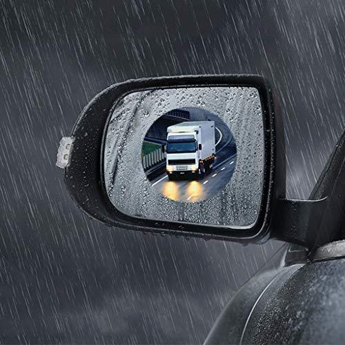 Regenbeschermfolie, spiegelfolie, mist, spiegelfolie, mistfolie, spiegelfolie, groot raam, 2 pakket, geschikt voor de hele auto 100x100mm
