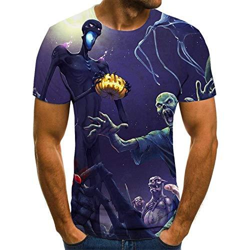 T Shirt Men Clothes Mens Summer Skull Print Men Short Sleeve T-Shirt 3D Print T Shirt Casual Breathable Funny T Shirts XXXL Txu-950