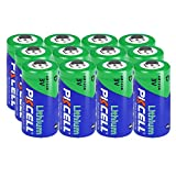 3V CR123A 123A CR17345 1500mah Lithium Batteries Count:Pcs (12) (Non-Rechargeable)