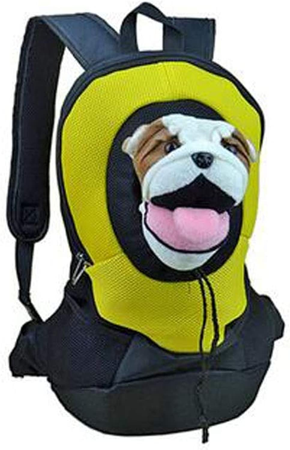 Belted Pet Travel Backpack, Wearable, Dustproof, Breathable, Suitable for Dogs, Cats, Small Pets, bluee, Suitable for Outdoor Travel, Hiking, Camping (color   LYellow)