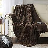 Hyde Lane Faux Fur Electric Throw | Premium Chocolate 50x60 Soft...