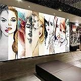 XUNZHAOYH Mural 3D Pared,Papel Tapiz Personalizado 3D Minimalista Moderno Pintado A Mano De Moda Joven Creativo Pintura Decorativa Sin Cerco Wallpaper 3D,140(W) X70.5Cm(H)(4.2X2.3) Ft