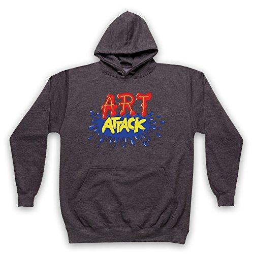 My Icon Art & Clothing Art Attack Kids TV Logo Buchanon Costume - Sudadera con capucha para adultos gris L