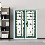 KUNHAN - Película para ventana esmerilada de estilo europeo, láminas de cristal translúcido, autoadhesivas para puerta de privacidad en el lugar de las cortinas, 40 x 200 cm