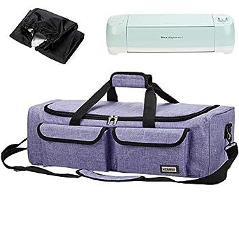 HOMEST Carrying Case Compatible with Cricut Explore Air 2 Cricut Maker Silhouette CAMEO3 Purple  Patent Design