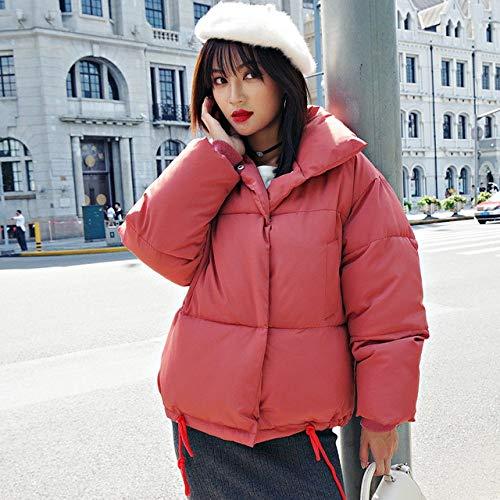 YUFUFU New Herbst und Winter Jacke Frauen Mantel lose übergroßen weiblichen Kurzmantel, rostrot, L