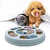 Giocattolo Intelligente per Cani,Giocattoli Cibo per Cani Che Mangiano Lentamente, Giocattolo Puzzle Antiscivolo per Cani, Cuccioli e Gatti Migliorare IQ (Blu)