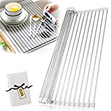 AIDBUCKS Escurridor Fregadero de Cocina Dish Drying Rack Plegable Tapete Secado...