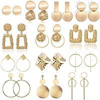 13-Pairs Fesciory Statement Drop Dangle Earrings