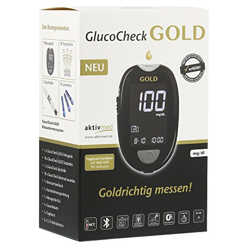 GLUCO CHECK GOLD Blutzuckermessgerät Set mg/dl 1 St