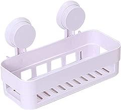 Goonpetchkrai.rapat7498 Shower Caddy- Suction Cups Bathroom Shelf Wall Rack -2 Suckers Plastic Shower Caddy Organizer Holder Tray
