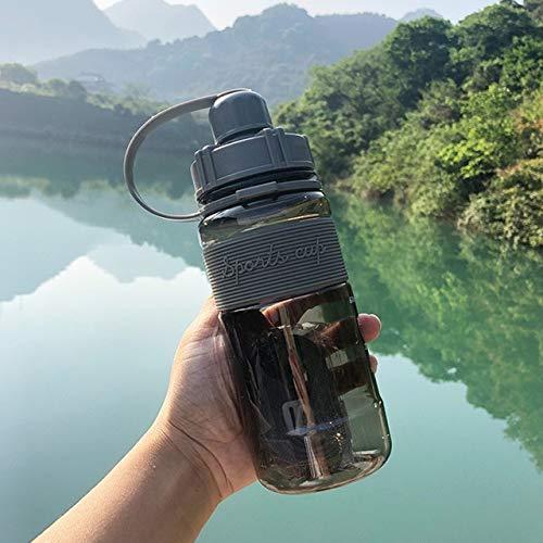 600-2000ml botella de agua para beber para fitness al aire libre botella de agua de gran capacidad botella de agua para bicicleta de montaña portátil taza de espacio libre para fitness - 1000ml, negro