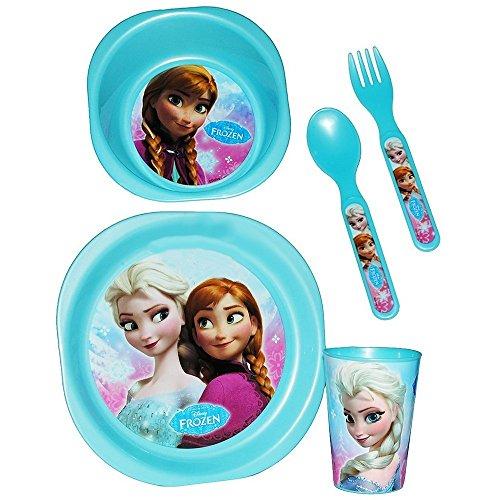 Set 5 pièces La reine des neiges assiette verre couvert repas déjeuner