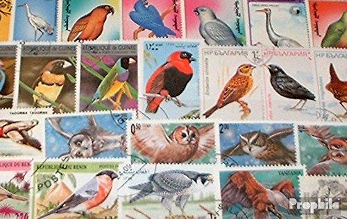 Prophila Collection Motive 100 Verschiedene Vögel Marken (Briefmarken für Sammler) Vögel