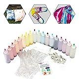 ckground Kits De 18 Colores Tie-Dye, Kits De Tinte Textil DIY Hechos A Mano, Kits De Material De Teñido De Pigmento De Graffiti De Ropa, Adecuado para Proyectos Personales/Entretenimiento En El Hogar