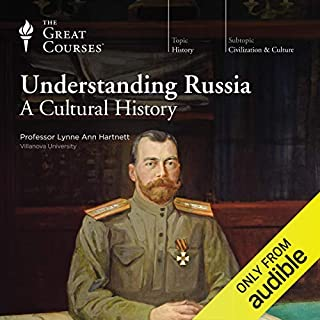 Understanding Russia     A Cultural History              By:                                                                                                                                 Lynne Ann Hartnett,                                                                                        The Great Courses                               Narrated by:                                                                                                                                 Lynne Ann Hartnett                      Length: 12 hrs and 56 mins     152 ratings     Overall 4.4