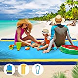 Picnic Blankets Beach Blanket Waterproof & Sandproof Picnic Mat, 79' X 83' Large Camping Blankets, for 2-7 Adults, Outdoor Lightweight Blanket for Travel, Camping, Hiking, for Family, Kids, All Age