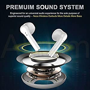 Wireless Earbuds Bluetooth 5.0 Headphones,3D Stereo Built in Mic in-Ear Earbuds Noise Cancelling Headphones Smart Touch with 24H Charging Case Sport Earbuds for iPhone/Android/Samsung