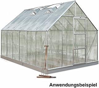 Halls - Invernadero (257 x 384 cm, 9,9 m2, universal, 128 aluminio, policarbonato)