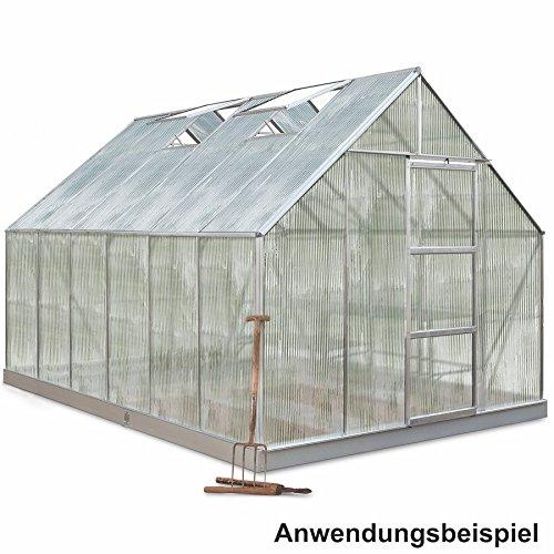 Halls Gewächshaus 257x384cm 9,9m² Universal128 Aluminium Polycarbonat Treibhaus