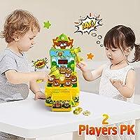 VATOS Acchiappa la Talpa,Mini-Giocattolo elettronico Arcade,Giocattolo Fornito di Monete e di 2 martelli Giocattolo,Gioco interattivo per i Bambini e Bambini di età Compresa tra 3-6 Anni #4