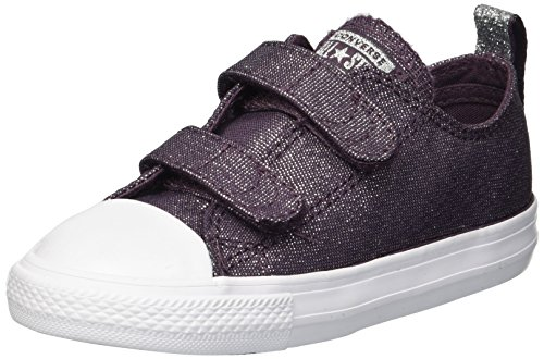 Converse Baby-Girl's Chuck Taylor All Star 2V Sneaker, Purple/Brown, 4 M US Toddler
