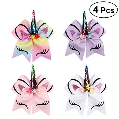 Lurrose Set van 4 stuks, elastisch haarband voor dames en meisjes