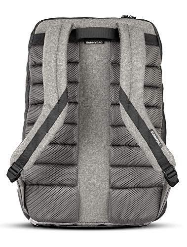 Sunnybag Iconic Solar Backpack in Cool Gray | 7 Watt Solar Panel | Charge All Smartphones and Portable USB Devices | 20L Volume