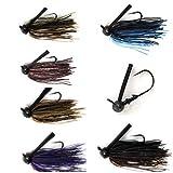 Wtrees #2700 Fishing Football Bass jigs 6 of Pack (4/0,3/8oz)