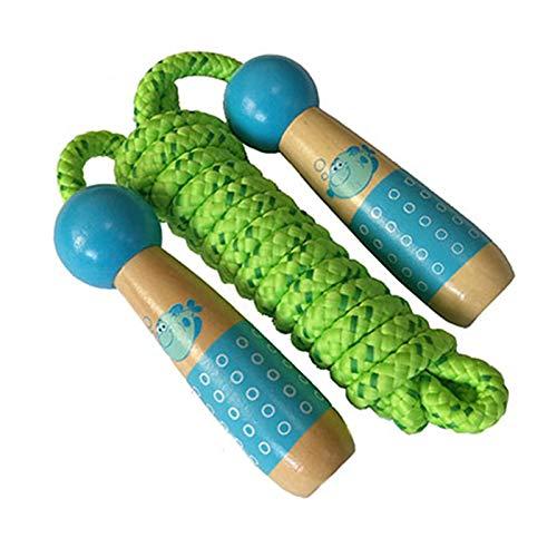 Rovive springt touwen houten handvat cartoon springtouw verstelbare fitness gereedschap speelgoed voor kinderen kinderen kinderen outdoor en indoor sport