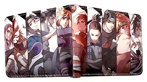 WANHONGYUE Anime Naruto Cartera Billetera de Cuero para Hombre Tarjetas de Crédito Wallet Monedero 1027/18