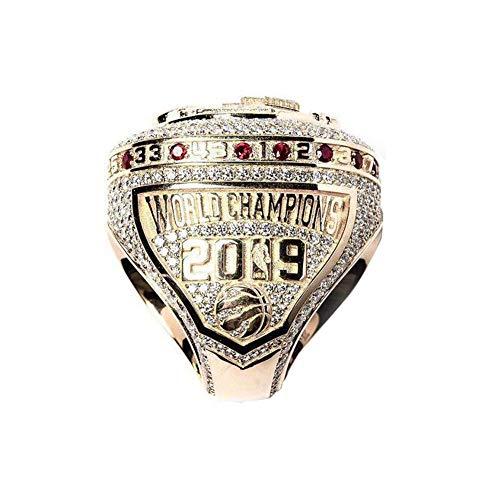Fei Fei NBA 2019 Raptors #7 Kyle Lowry Championship Ring Campione Anello Elegante semplicità Anello di Collezione Souvenir Fan Regali,No Box,11