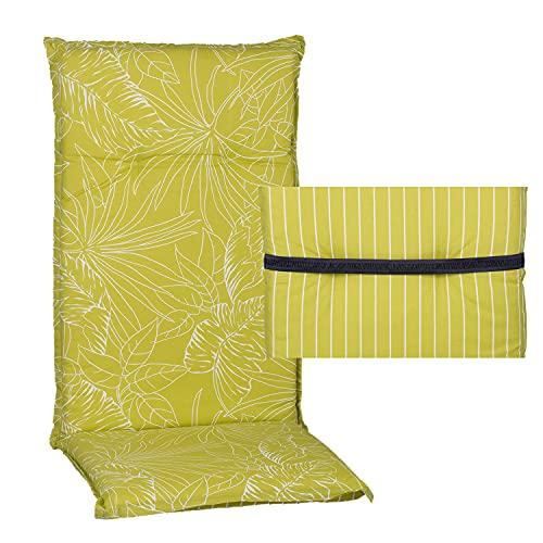 nxtbuy Gartenstuhl-Auflage Barcelona 118x50x6cm - Hochlehnerauflage für Gartenstühle - Stuhlauflage mit Komfortschaumkern - Made in EU /...