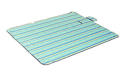 Honeystore 180 * 150 Oxford Yoga Matte Strand Ausflug Picknickdecke mit Wasserabweisender Unterseite Blau