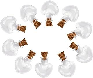 HOMYL 10pcs Tiny Glass Vials Cork Jars Bottles Charms DIY Pendants
