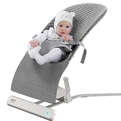 RONBEI Baby Swing Bouncer, Portable Swing, Automatic Swing Bouncer for Baby/Infants, 2 Speed Vibration (Grey)