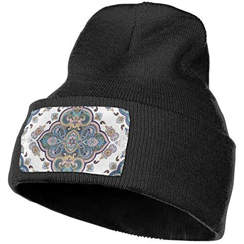 AEMAPE Alfombra India Patrón de Adorno Tribal Gorra Tejida de Invierno Sombrero de Punto Suave Gorros Calientes Sombrero para Hombres Mujeres Gorra de Calavera
