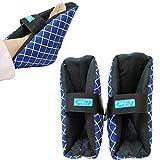GHzzY Protector de talón para úlceras por presión - Almohadas Acolchadas de talón para pies hinchados y úlcera de talón - 1 par de Fundas Protectoras para aliviar el Dolor de pies