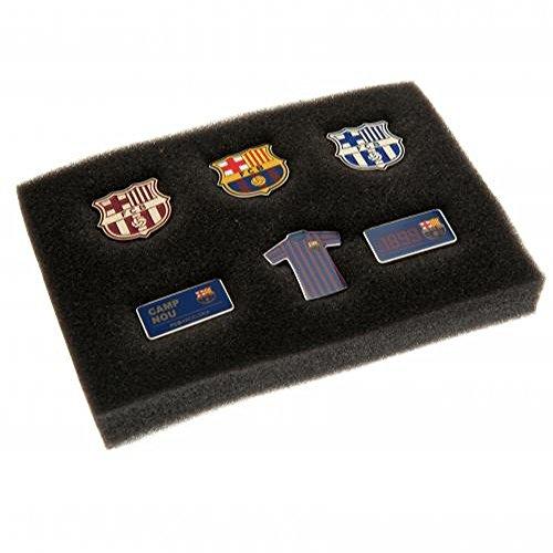 FC Barcelona Offizieller Fußball 6-teilige Button-Set-ein tolles Geschenk zum Geburtstag oder zu Weihnachten, für Herren und Jungen