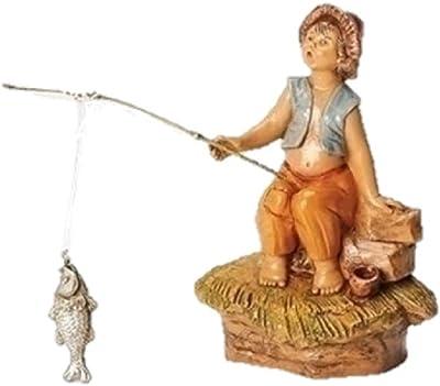Fontanini Jada Little Fishing Boy Italian Nativity Village Figurine