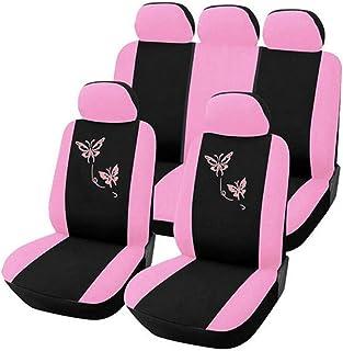 R-RIGHT Conjunto de 9 peças de capas de assento universais de carro bordado borboleta moderno protetor de assento automoti...