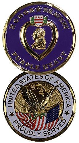 Purple Heart Challenge Coin-Eagle Crest 2263