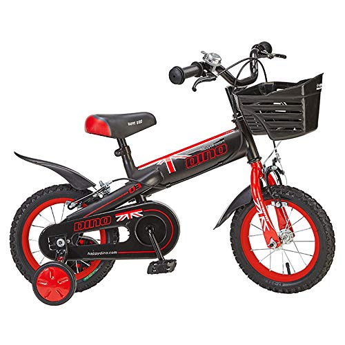Axdwfd Kinderfiets met trainingsfietsen, voor meisjes en jongens van 2-8 jaar, voor 12 – 14 – 16 inch fietsen met spatborden en mand