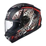 オージーケーカブト(OGK KABUTO)バイクヘルメット フルフェイス AEROBLADE5 WIND(ウィンド) フラットブラックレッド (サイズ:L)