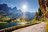 Sommer Südtirol See Berge XXL Wandbild Kunstdruck Foto