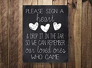 ShoppeCo Please A Heart Drop in Jar Wedding Guest Book Our Guestbook Wedding Reception Beach Wedding Rustic Wedding Wood Pallet Design Wall Art Sign Plaque Wooden Signs