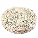 Cojín de suelo para tatami japonés, cojín de paja, cojín redondo, para asiento de yoga o jardín, decoración de comedor