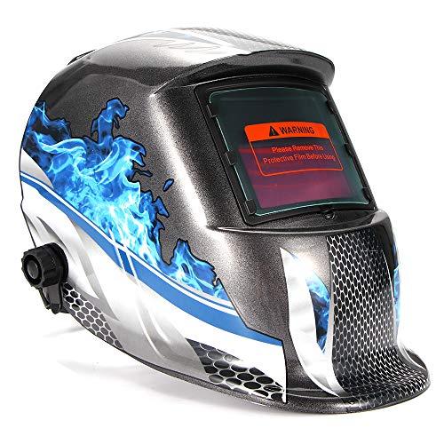 Sunsbell Máscara de Soldadura Capucha de oscurecimiento automático con energía Solar